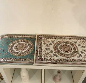 [預購]地毯 復古文藝風格 韩國ins同款復古文藝民族風波斯防滑地墊地毯浴室門墊房間裝飾