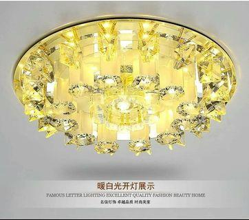 🌇大氣别墅LED水晶通道燈 走廊燈 玄關燈 門廳燈 走道燈 吸頂燈 直徑24公分  4-6坪可當主燈