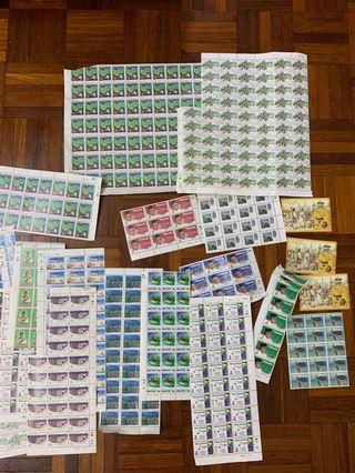 Unused stamps worth RM120, selling for RM80