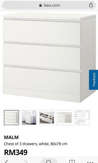 IKEA like chest of drawers. White. NEW.