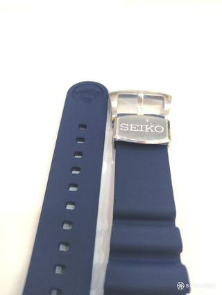 Brand New Seiko Prospex Silicone Blue Divers Strap with Steel Buckle