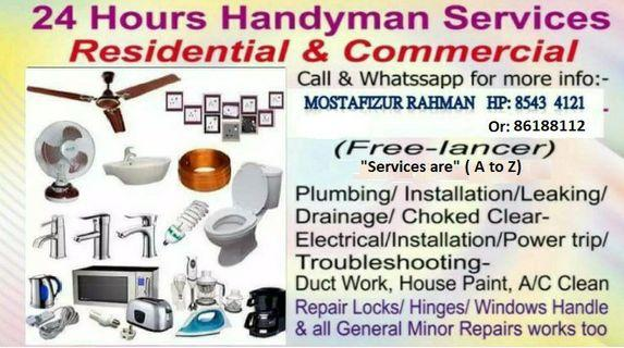 24 hours a-z service Rahman 85434121 call or WhatsApp me.