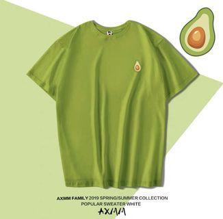 [現貨]酪梨🥑上衣 牛油果綠色上衣綠色t恤女短袖2019韓版寬松潮原宿抹茶綠