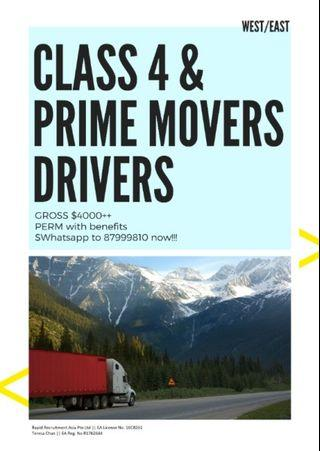 CLASS 4 / PRIME MOVERS @ EAST/WEST - UP TO $4000