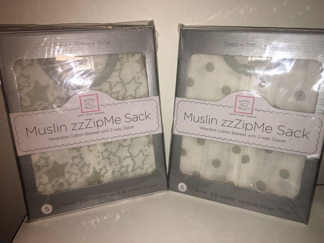 2 brand new in packaging Swaddle Designs Muslin zzZipMe sack