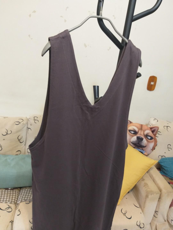 加大款韓國🌬秋裝純棉長背心洋裝。不含內搭$600