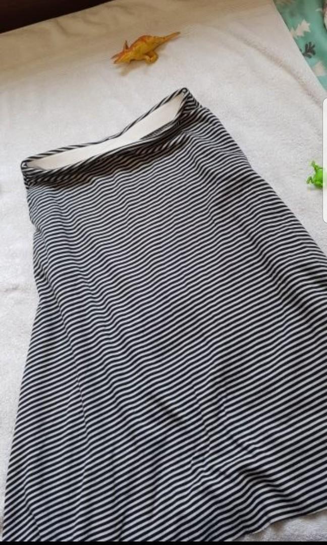 黑白條紋長裙