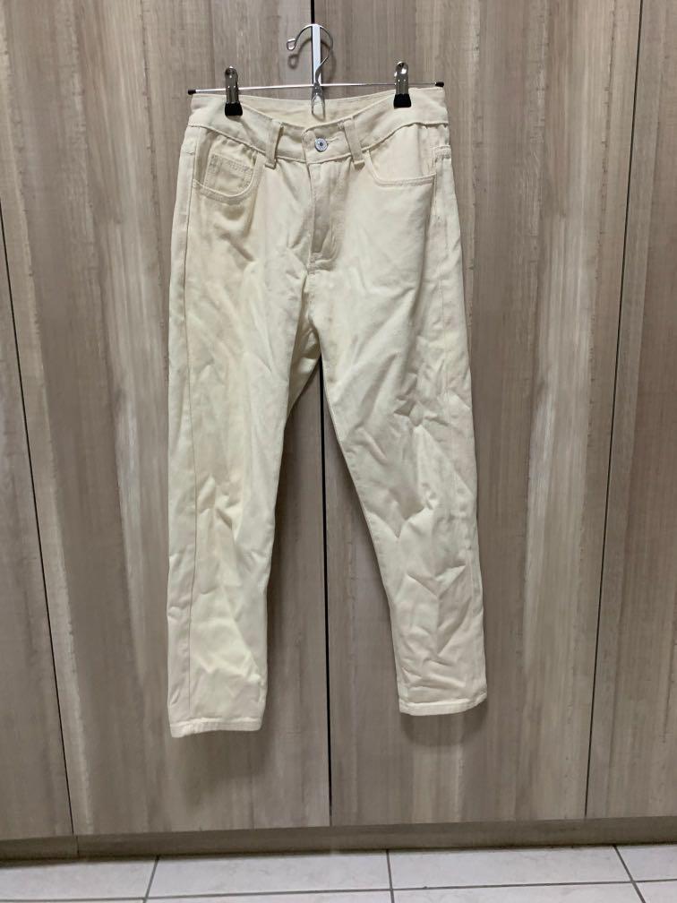 米白偏黃色長褲