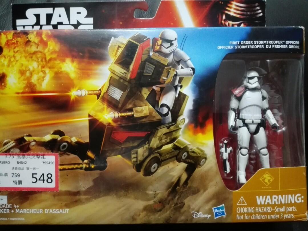 星際大戰 star wars  3.75吋 交通工具組 Assault Walker 白兵 風暴兵 隊長
