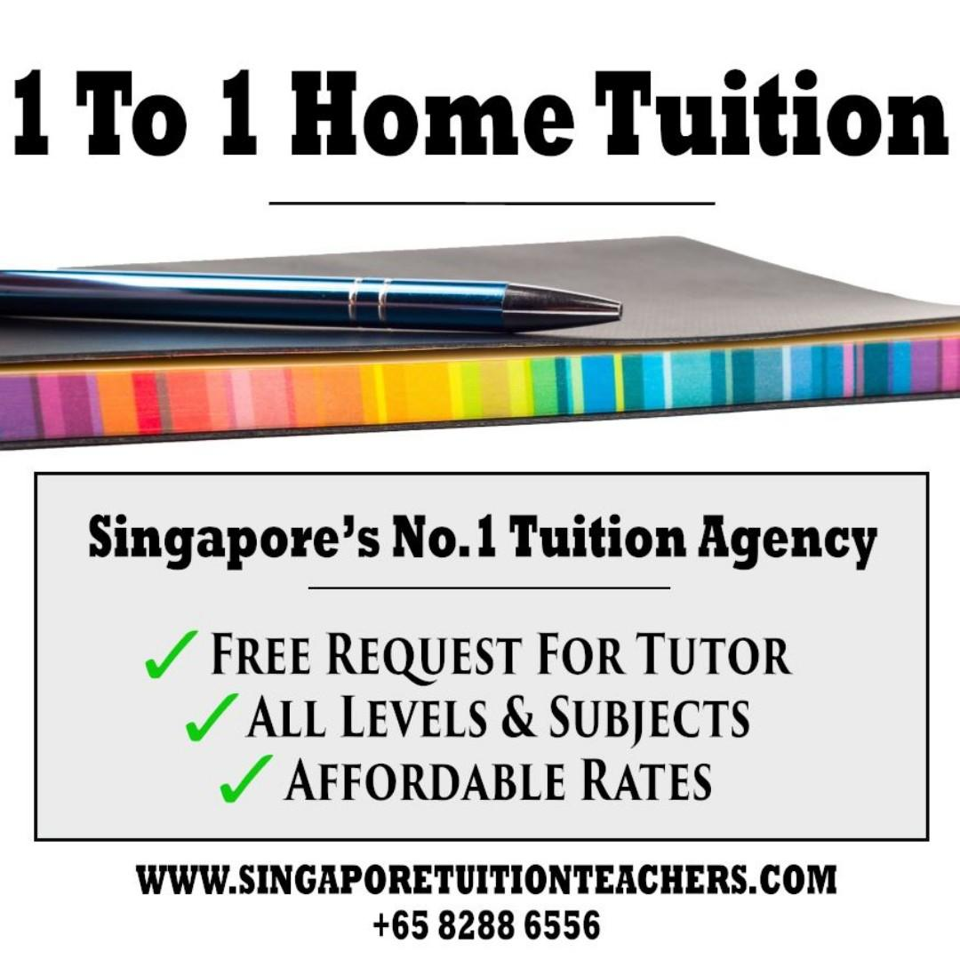 Affordable 1-to-1 Home Tuition - FREE Request For Tutor - All Levels & Subjects - Pri/Sec/JC/IP/IB/IGCSE Tuition - www.singaporetuitionteachers.com