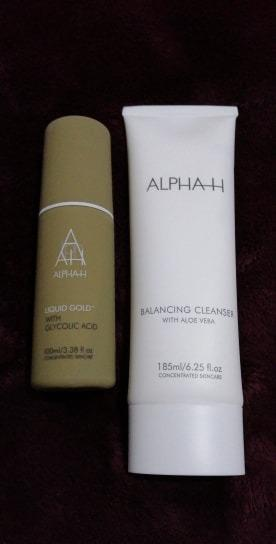ALPHA H BALANCING CLEANSER WITH ALOE VERA 185ml + LIQUID GOLD WITH GLYCOLIC ACID 100ml BRAND NEW & AUTHENTIC