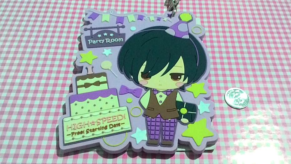 Anime BIG Free! Iwatobi Ikuya Kirishima big rubber name pass strap