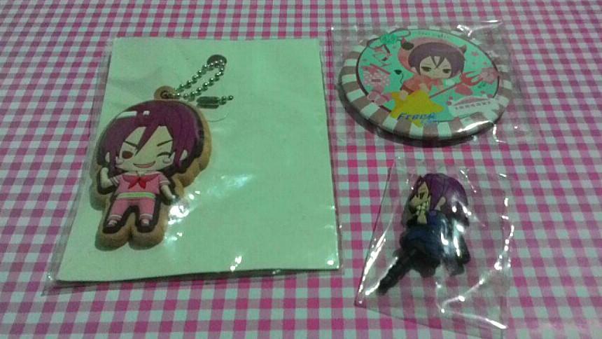 Anime Free! Iwatobi Rin Matsuoka keychain, charm, strap, phone charm, mirror set