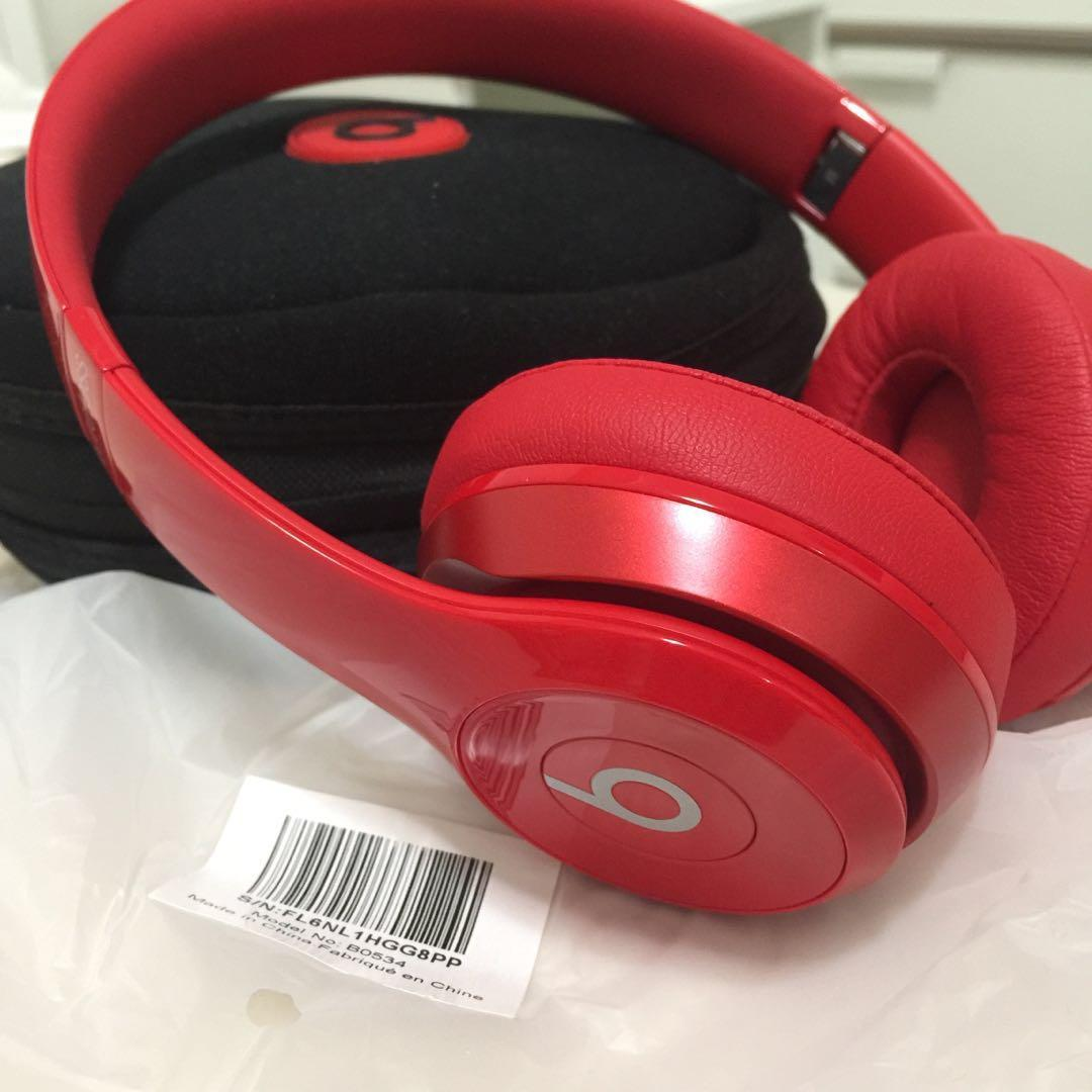 Beats by Dr. Dre - Solo 2 On-Ear Wireless Headphones - Red