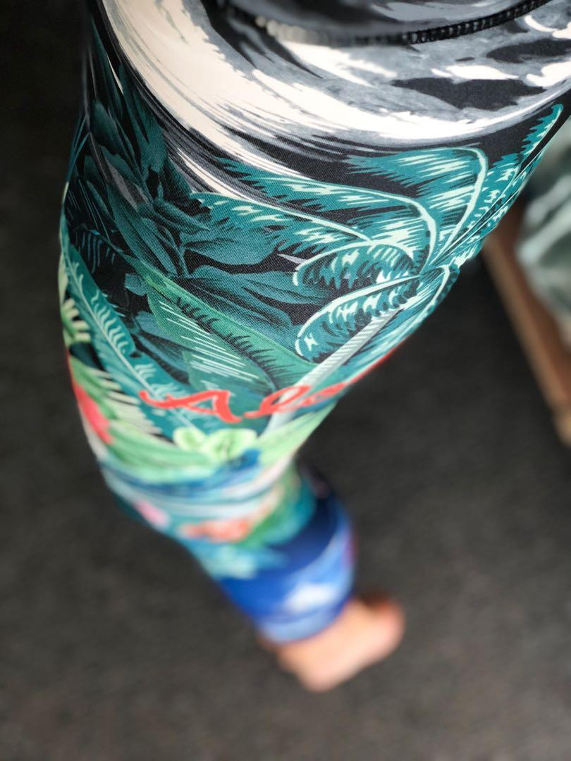 Colourful full-length Onzie tights, only worn once.