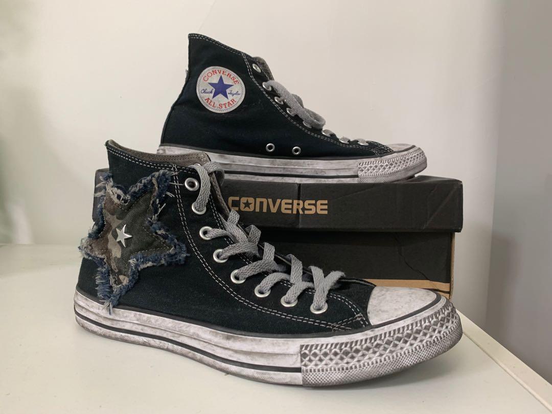 Converse All Star chuck Vintage limited edition 限量版迷彩星星洗水造舊復古cons