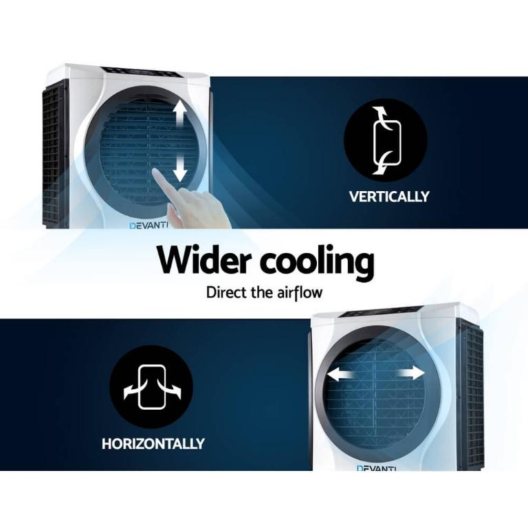 Devanti Evaporative Air Cooler Industrial Commercial Fan Conditioner Purifier with Remote