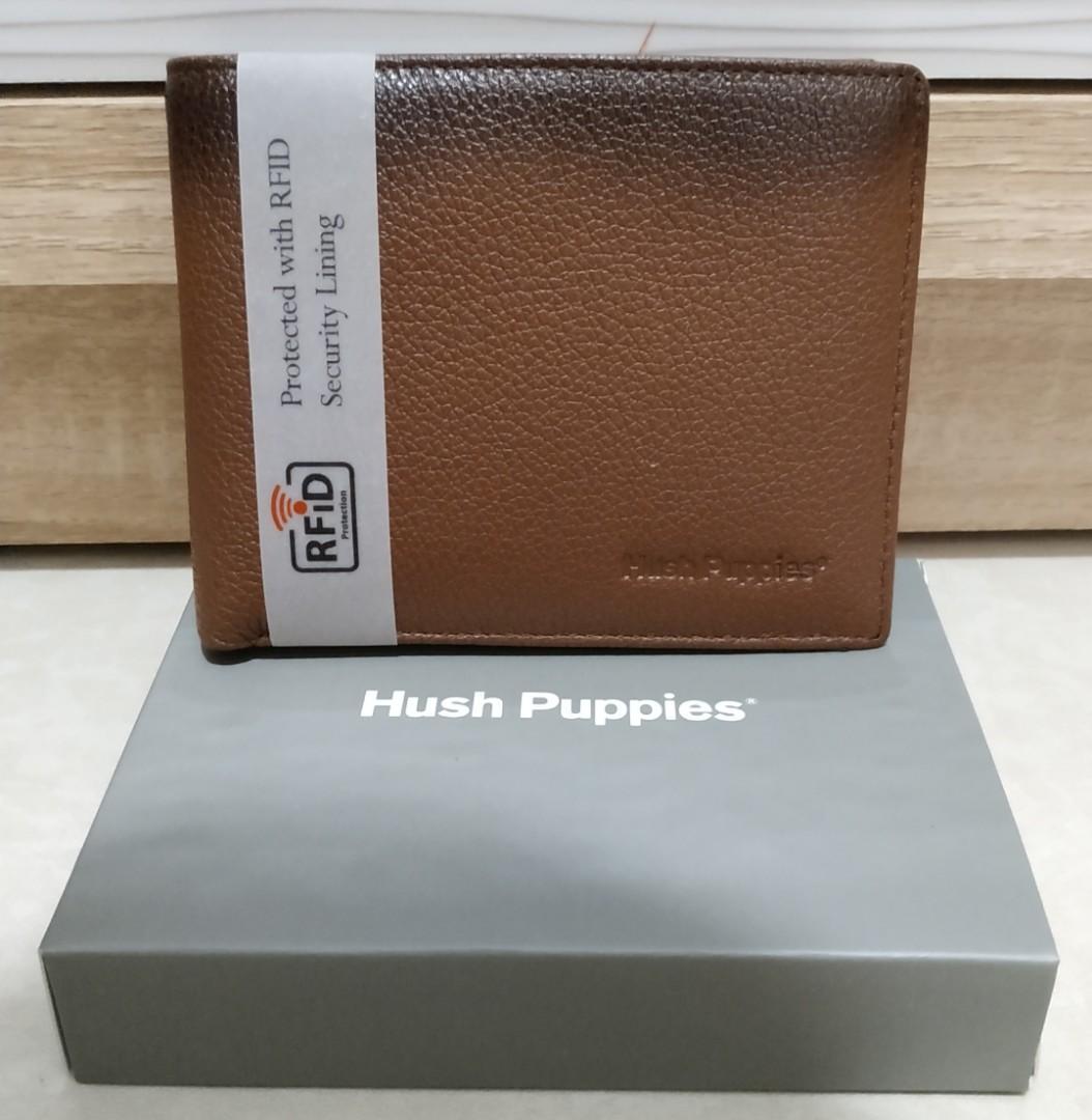 Dompet Pria Coklat Hush Puppies Original RFID Protection Iverson Short