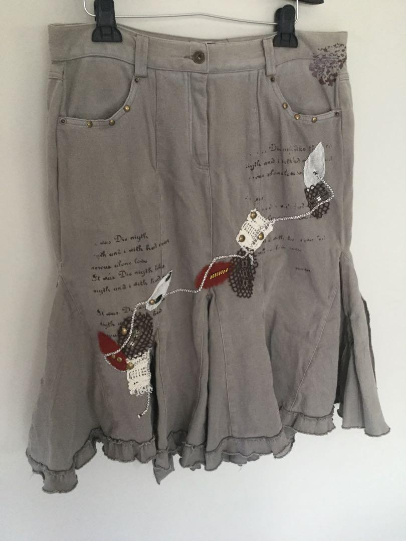 DP Jeans Didier Parakian Skirt Size 44 Designed In France
