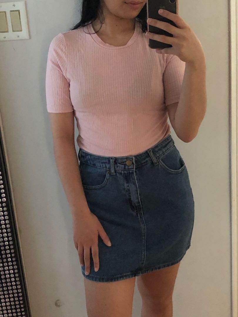 F21 Denim Skirt (M)