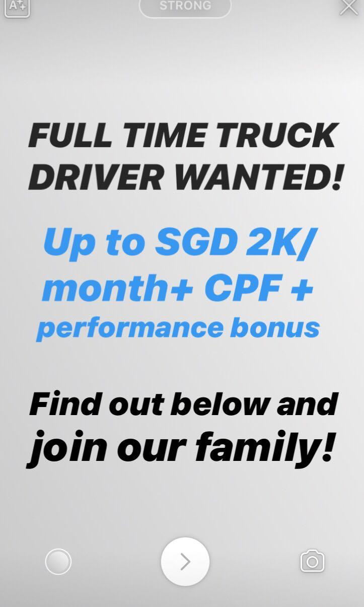 FULL TIME TRUCK DRIVER