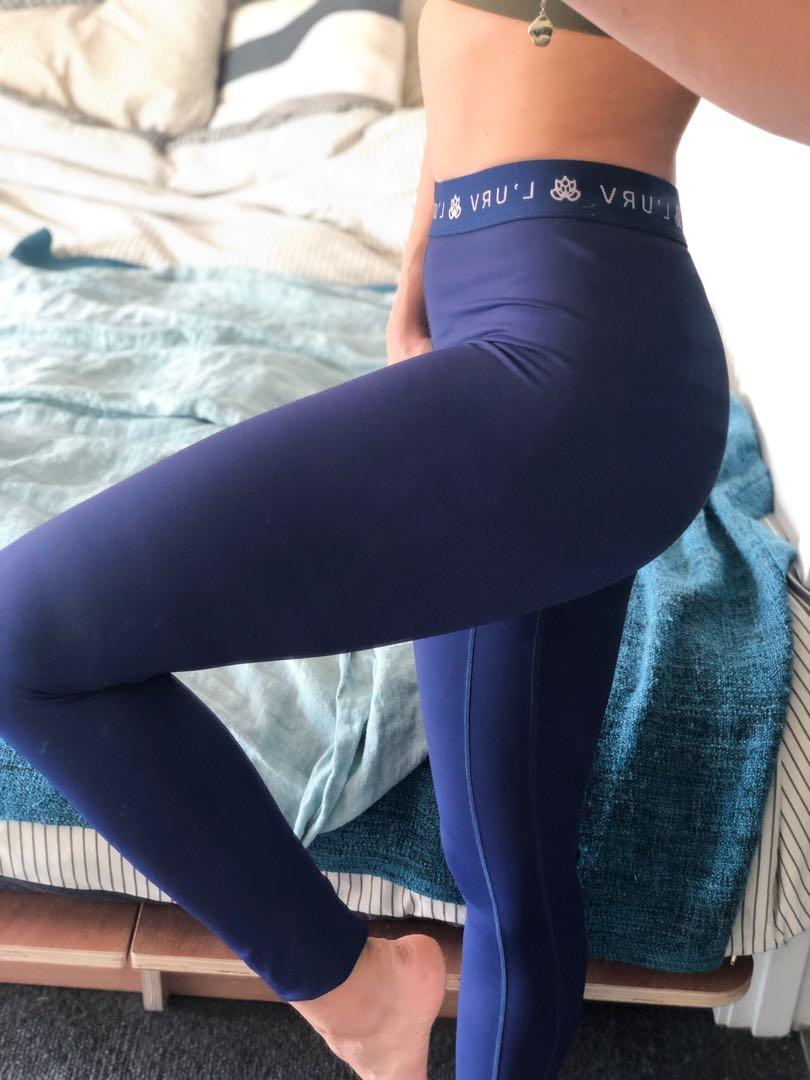 Full-length blue L'urv tights. Only worn a handful of times.