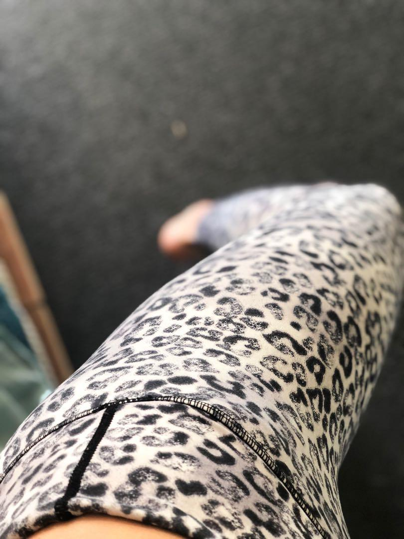 Full-length Leopard Vie Activewear tights. With internal waist band.