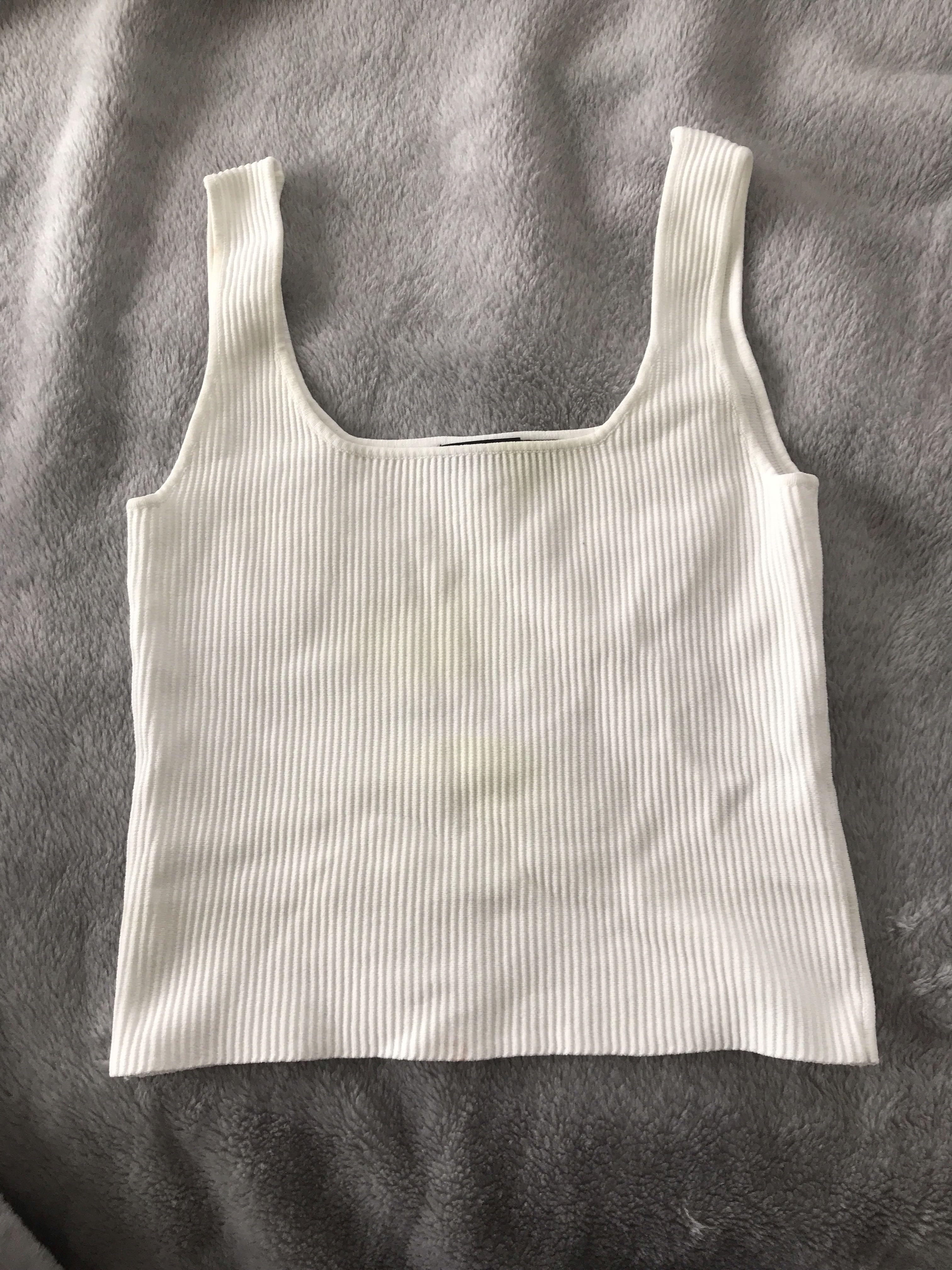 Glassons white tank top size small