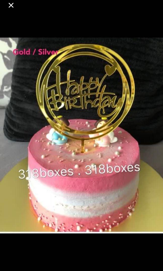 Happy birthday number cake topper