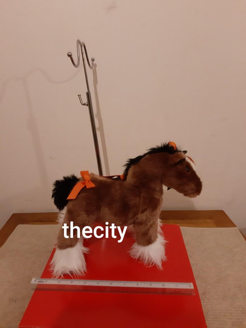 "HERMES HERMY HORSE SOFT TOY - FROM HERMES BABY DEPARTMENT-  VERY GOOD CONDITION, HAS JUST BEEN SENT FOR DRY-CLEANING -  TAGS HAVE BEEN REMOVED BY PREVIOUS OWNER TO PREVENT ""BABY CHOKING HAZARD"" - SOLID SHAPE STRUCTURE,  CLEAN FUR"