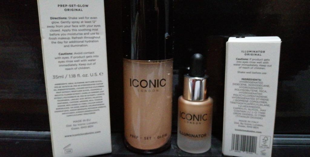 Iconic London Prep Set Original Face Spray Makeup 35ml + Illuminator Original Drop 4.5ml. Brand New 100% Genuine [Price is Firm, No Swaps]
