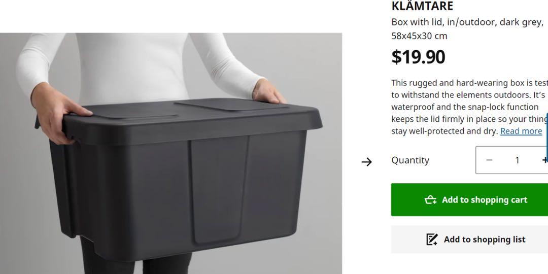 Ikea Outdoor Storage Box Furniture, Outdoor Storage Cabinets Waterproof Ikea