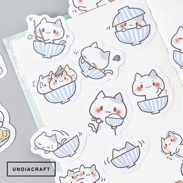 [INSTOCKS] striped cat sticker box