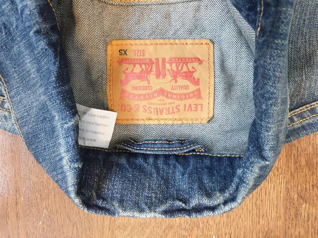Levis Denim Jacket Mens rare size XSmall
