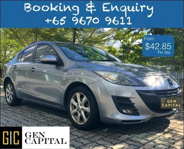 Mazda 3 1.6A Luxury @ Lowest rental rates, good condition!