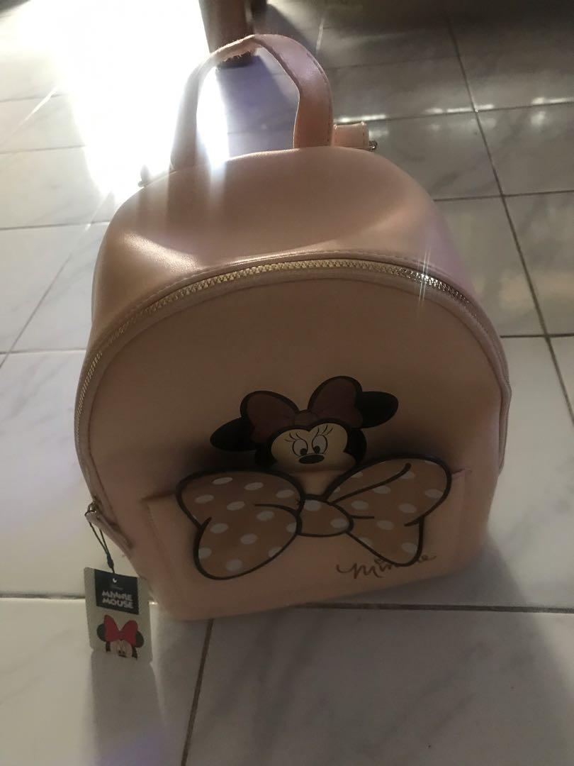 Minnie mouse pink backpack