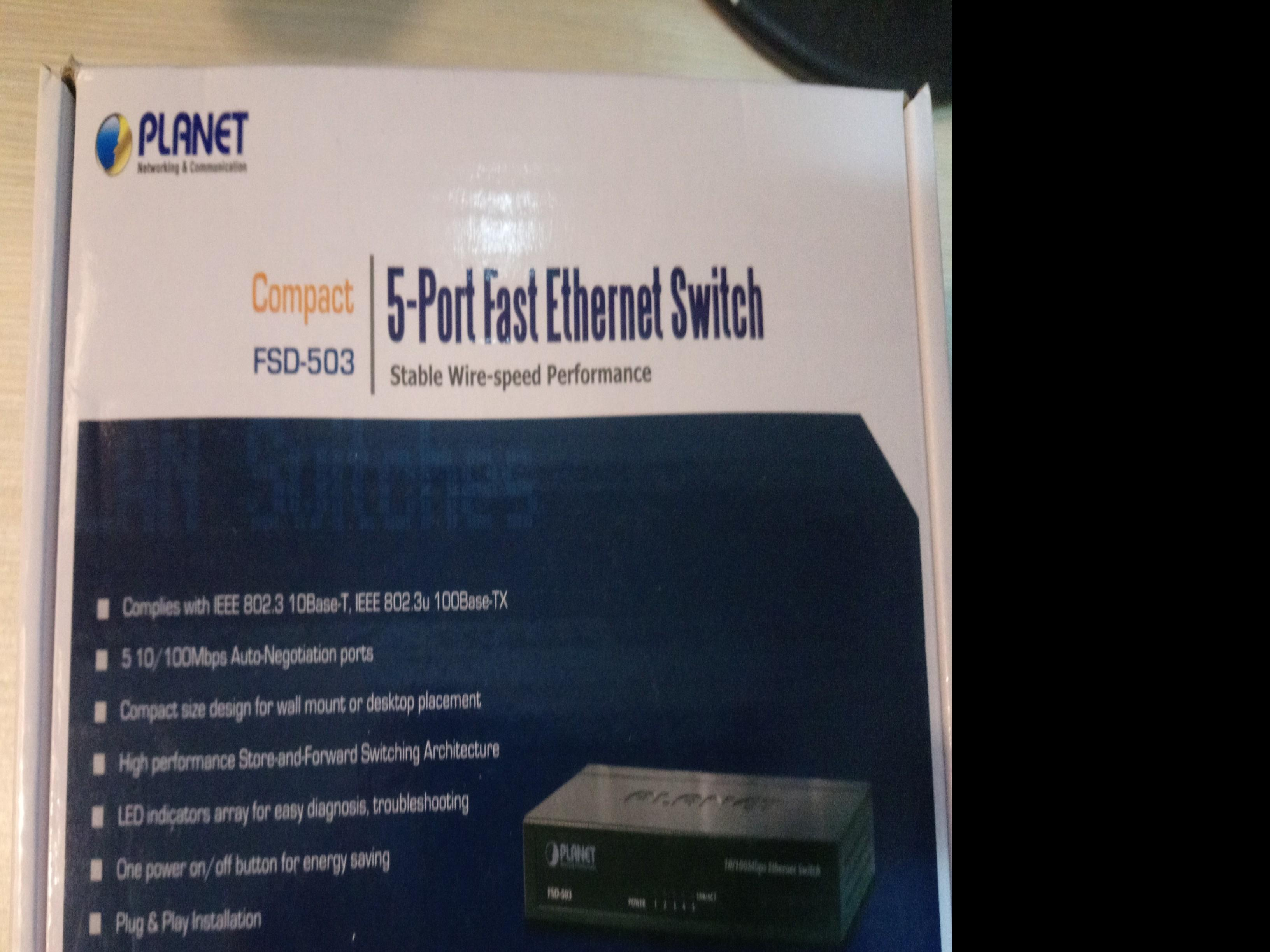 Planet 5 portfasr ethernet switch