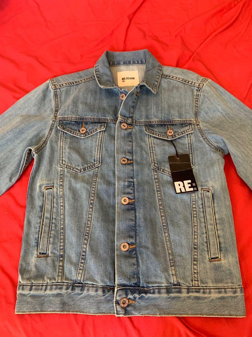 Re Denim Light Blue Denim Jacket Mens Size S BRAND NEW