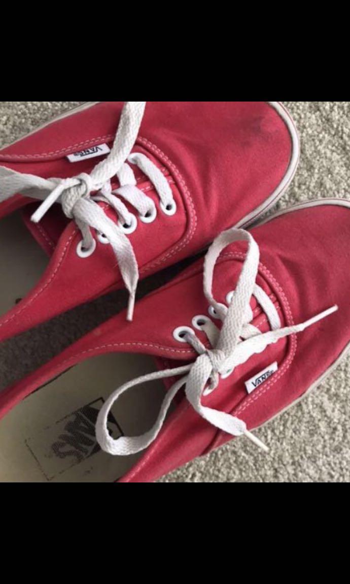 Red vans authentic sneakers