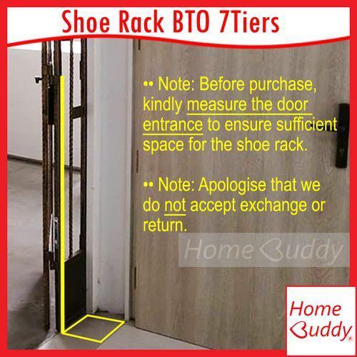 Shoe Rack /Shoe Rack for BTO door gap7tiers (DIY)