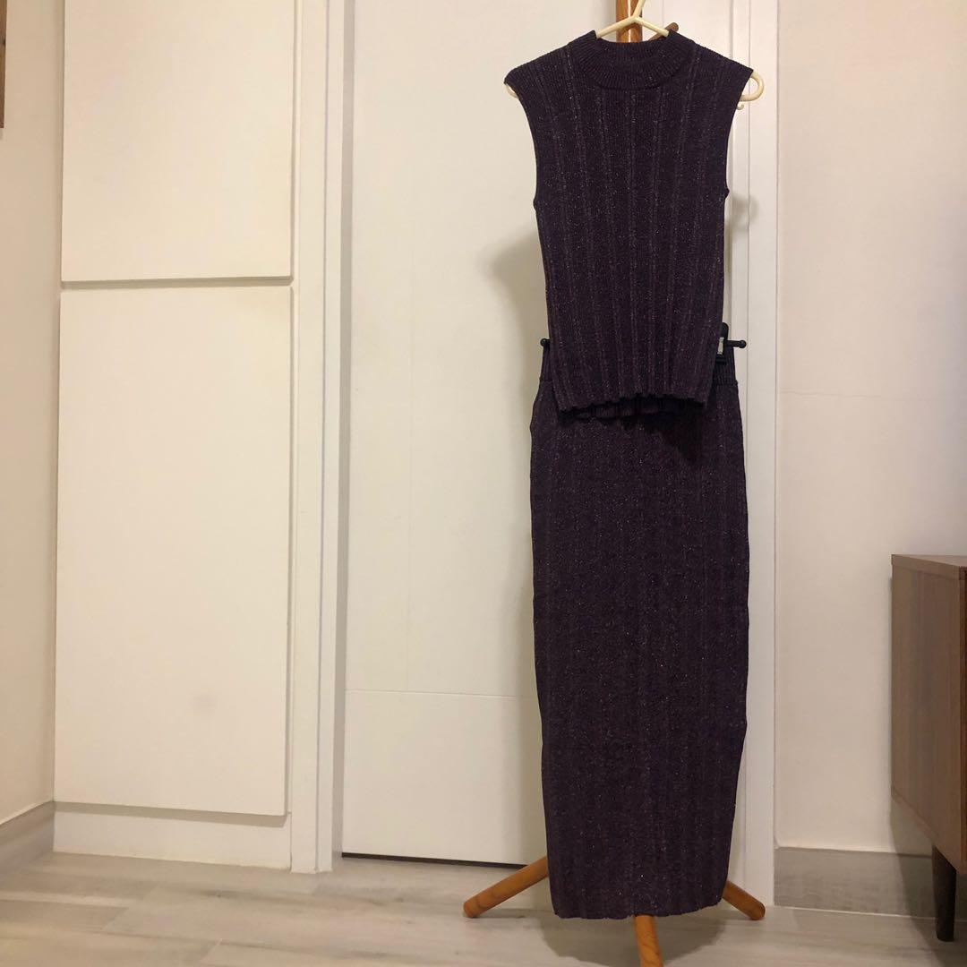 🌟全新SLY紫色閃閃針織裙