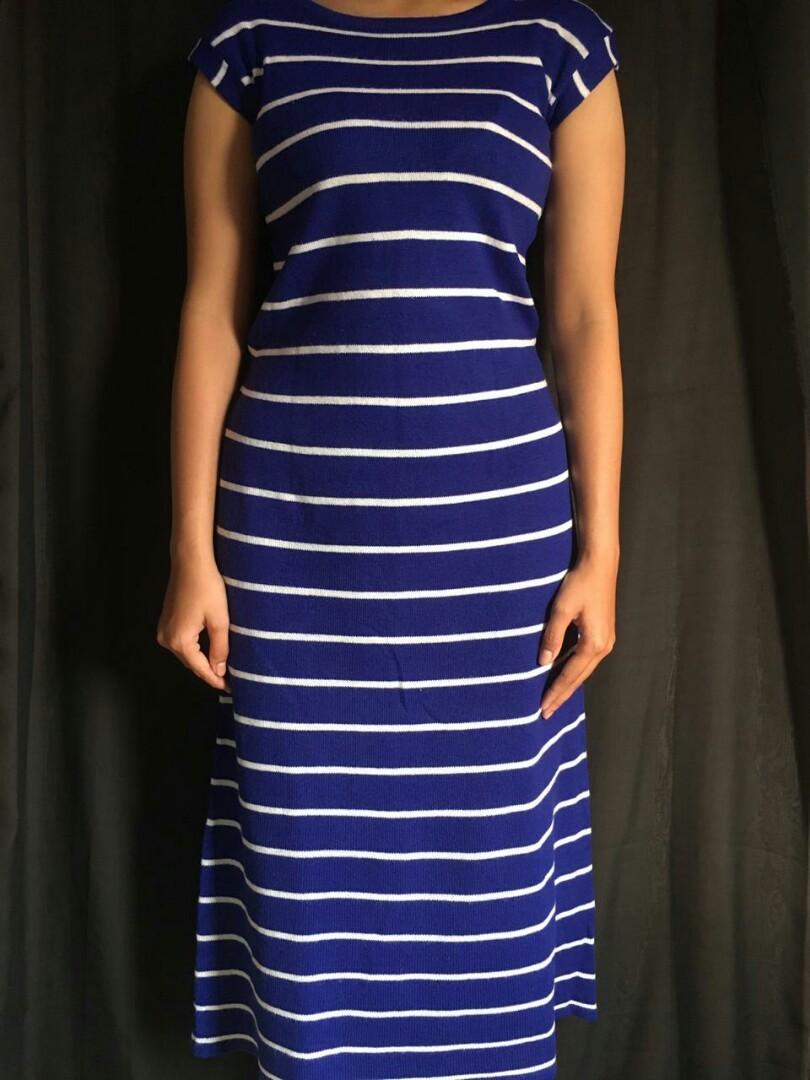 Stripe Dress rajut