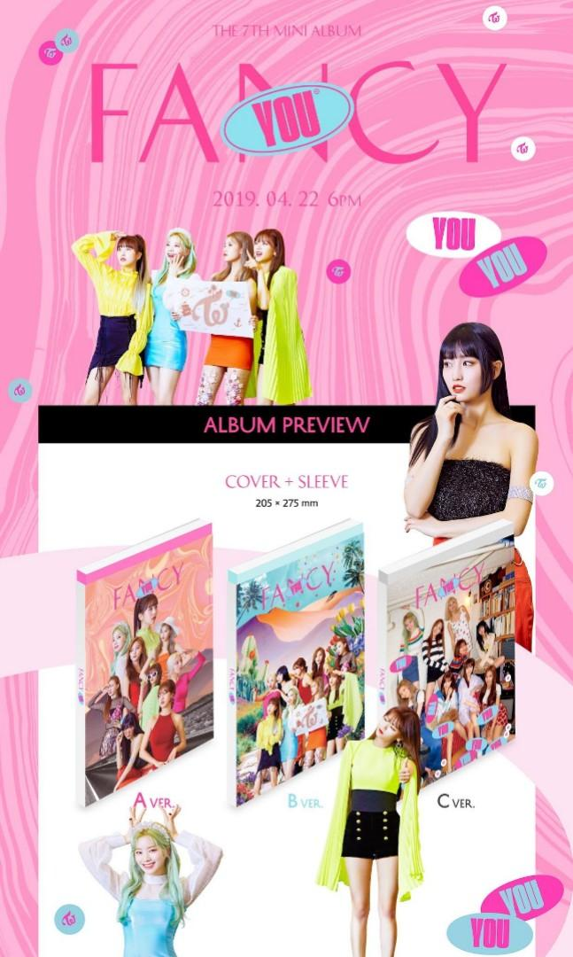 Twice Fancy You (7th mini album) version B (preorder goodies)