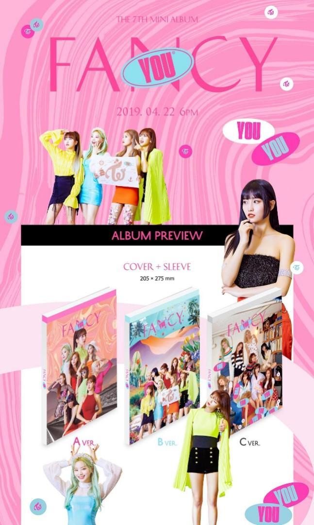 Twice Fancy You (7th mini album) version C (preorder goodies)