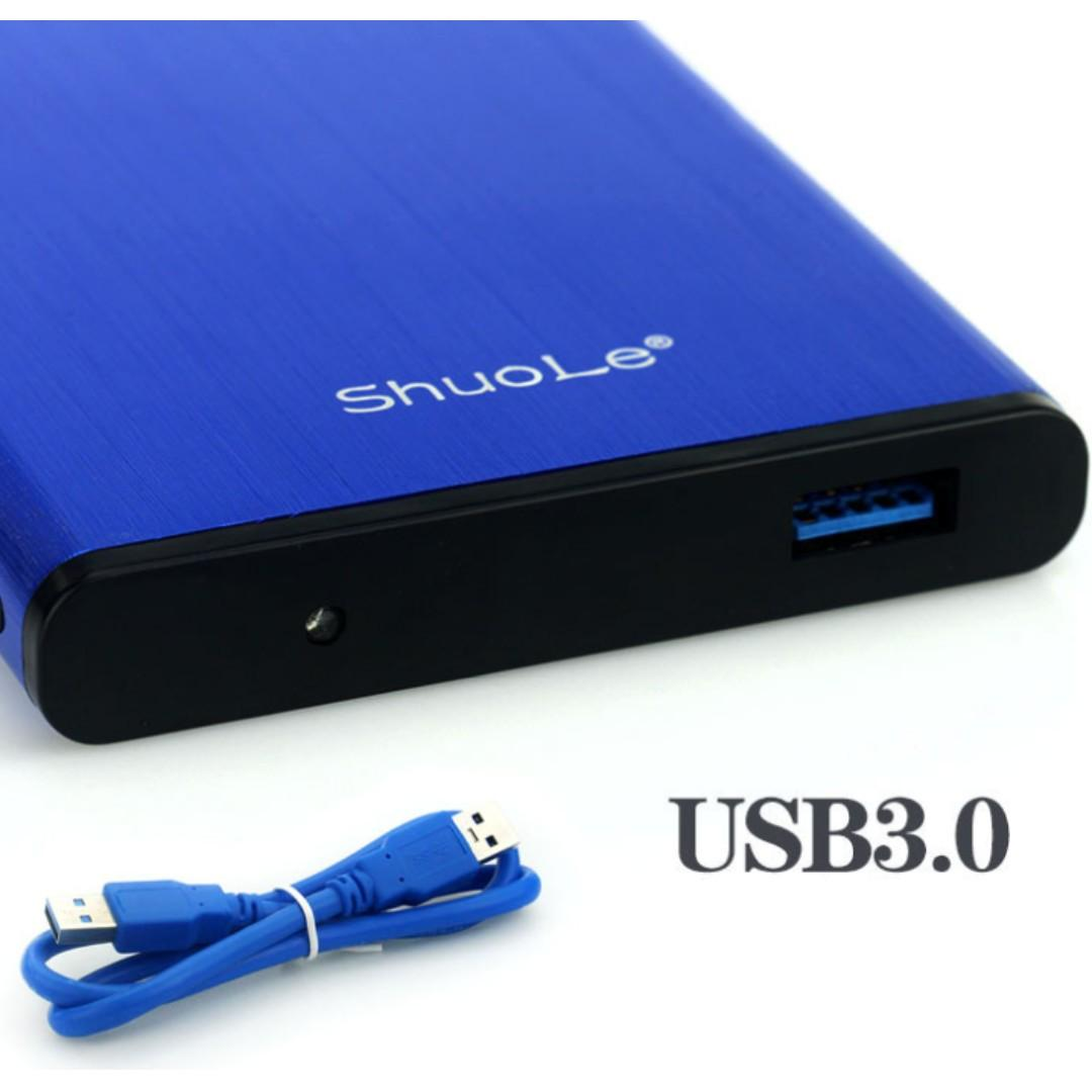 USB 3.0 SATA Hd Box Hard Disk Drive External HDD Enclosure Solid Metallic Case