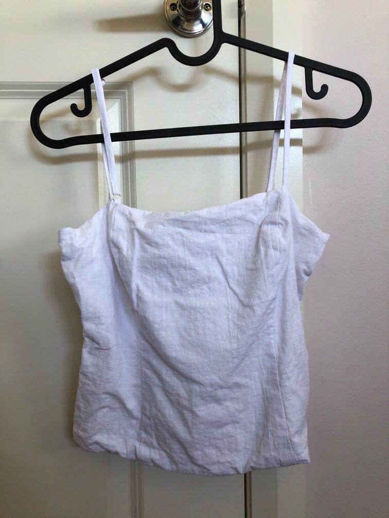 White singlet top street wear from universal store