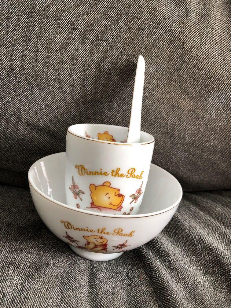 Winnie the Pooh bowl spoon and cup