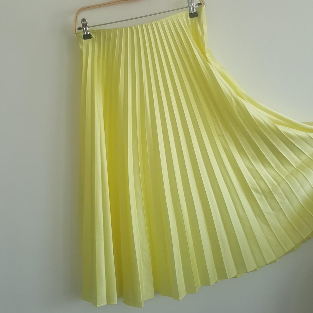 Zara pleats skirt