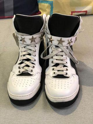 GIVENCHY White/Black Tyson Star High Top Sneakers Mens