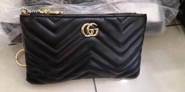 Gucci GG Marmont Black Wristlet